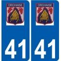 41 Orchaise logo autocollant plaque stickers ville