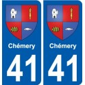 41 Chémery coat of arms sticker plate stickers city