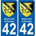 42 Saint-Just-la-Pendue coat of arms sticker plate stickers city