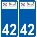 42 Bard logo autocollant plaque stickers ville
