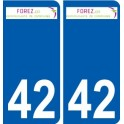 42 Saint-Médard-en-Forez logo sticker plate stickers city