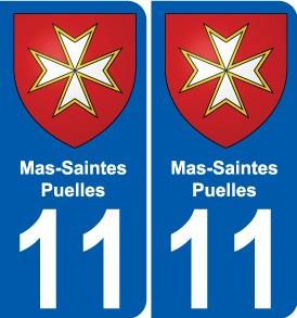 """Résultat de recherche d'images pour """"Mas-Saintes-Puelles logo Blason"""""""