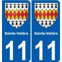 11 Sainte-Valière blason autocollant plaque stickers ville