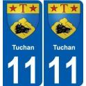 11 Tuchan blason autocollant plaque stickers ville