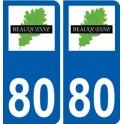 80 Beauquesne logo sticker plate stickers city