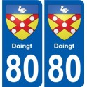 80 Roye coat of arms sticker plate stickers city