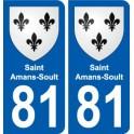 81 Saint-Amans-Soult blason autocollant plaque stickers ville