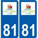 81 Saint-Sulpice-la-Pointe logo sticker plate stickers city