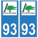 93 Aulnay-sous-Bois logo autocollant plaque stickers ville