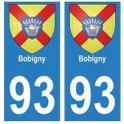93 Bobigny blason autocollant plaque stickers ville