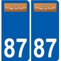 87 Arnac-la-Poste logo autocollant plaque stickers ville