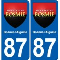 87 Bosmie-l'Aiguille coat of arms sticker plate stickers city