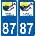 87 Bosmie-l'Aiguille logo sticker plate stickers city