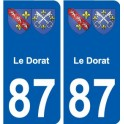 87 Le Dorat blason autocollant plaque stickers ville