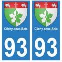 93 Clichy-sous-Bois blason autocollant plaque stickers ville
