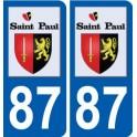 87 Saint-Paul logo autocollant plaque stickers ville