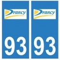 93 Drancy logo autocollant plaque stickers ville