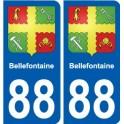 88 Neufchâteau blason autocollant plaque stickers ville