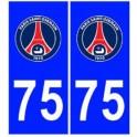 75 PSG Paris foot autocollant plaque