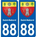 88 Saint-Nabord coat of arms sticker plate stickers city