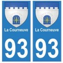 93 La Courneuve blason autocollant plaque stickers ville