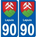 90 Lepuix coat of arms sticker plate stickers city