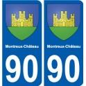 90 Montreux-Château logo sticker plate stickers city