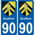 90 étueffont coat of arms sticker plate stickers city