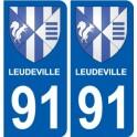 91 Breuillet stemma adesivo piastra adesivi città