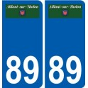 89 Aillant-sur-Tholon logo sticker plate stickers city