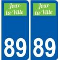 89 Auxerre logo adesivo piastra adesivi città