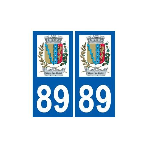 89 Auxerre logo sticker plate stickers city
