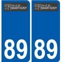 89 Maligny logo sticker plate stickers city