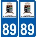 89 Quarré-les-Tombes logo sticker plate stickers city