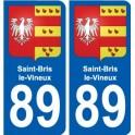 89 Saint-Bris-le-Vineux blason autocollant plaque stickers ville
