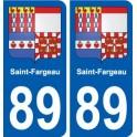 89 Saint-Fargeau blason autocollant plaque stickers ville