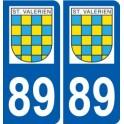 89 Saint-Valérien logo autocollant plaque stickers ville