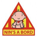 Autocollant Nin's a Bord Bébé catalan