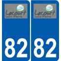 82 Lacourt-Saint-Pierre logo autocollant plaque stickers ville