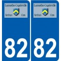 82 Septfonds coat of arms sticker plate stickers city