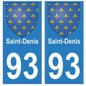 93 Saint-Denis blason autocollant plaque stickers ville