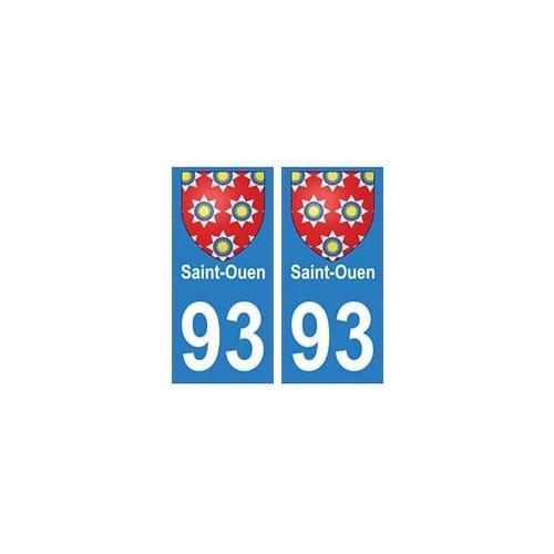 93 Saint-Ouen blason autocollant plaque stickers ville