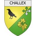 Stickers coat of arms Challex 01 ville Stickers blason autocollant adhésif
