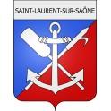 Saint-Laurent-sur-Saône 01 ville Stickers blason autocollant adhésif