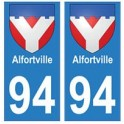 94 Alfortville blason autocollant sticker plaque immatriculation ville