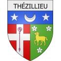 Thézillieu 01 ville Stickers blason autocollant adhésif