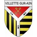 Villette-sur-Ain 01 ville Stickers blason autocollant adhésif