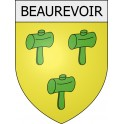Beaurevoir 02 ville Stickers blason autocollant adhésif