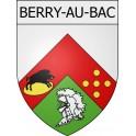 Berry-au-Bac 02 ville Stickers blason autocollant adhésif