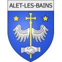 Alet-les-Bains 11 ville Stickers blason autocollant adhésif